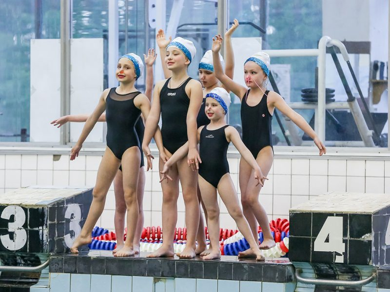 Синхронное плавание (с 4 до 7 лет)
